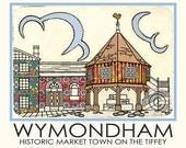 Wymondham A5 Postcard Market Cross Historical Town Centre Landmark
