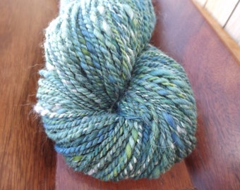 Tidal Wave-Handspun Yarn Art-80/20 Merino and Angora-2-Ply-190 Yards-4.45 oz