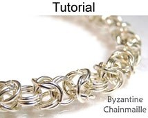 Beading Tutorial Pattern Bracelet Necklace - Wire Work Project - Simple Bead Patterns - Byzantine Chainmaille #1529