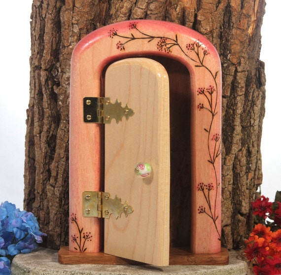Fairy door with secret compartment perfect for fairy garden for Secret fairy doors by blingderella
