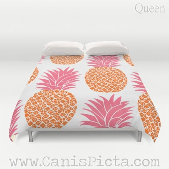 couette couverture ananas ananas queen ou king size tropical. Black Bedroom Furniture Sets. Home Design Ideas
