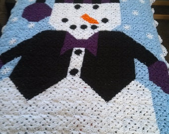 Snowman Afghan