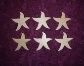 """Starfish Shape Wood Cut Out Unfinished Wooden Crafts 6 pieces 3"""" inch"""