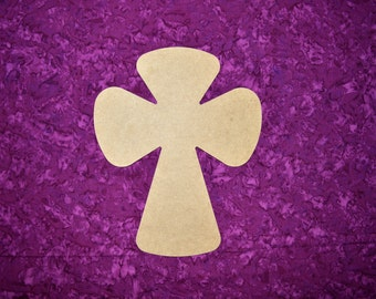 """Wood Cross Unfinished  Wooden Crosses 15"""" Inch Tall Paintable MDF Crafts  Part MC15-132"""