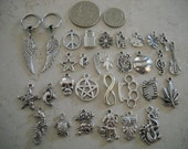 CUSTOM ORDER Choose One Pair 14g Earring Or Nipple Captive Rings with Your choice of Charms