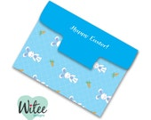 DIY Blue Bunnies Notepad and Notepad Cover (printable pdf file, customizable, editable) - Perfect gift for Teachers, Mothers, Children, etc