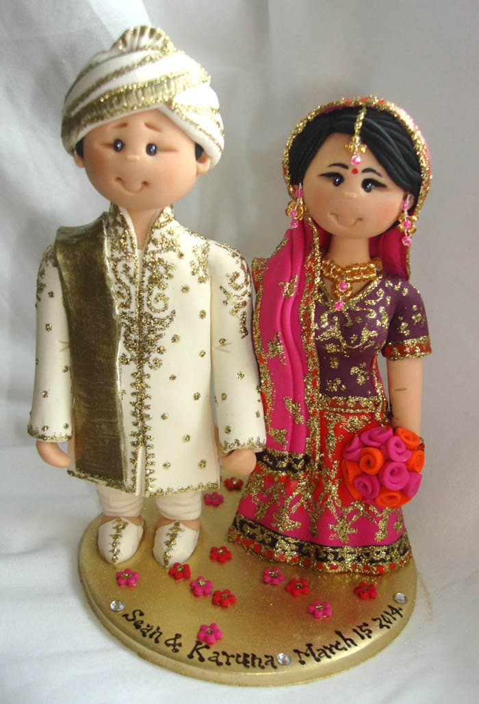indian wedding cake toppers uk personalised asian indian sikh hindu muslim 16427
