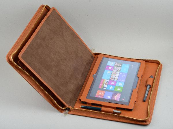 leather professional microsoft surface pro portfolio carrying