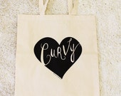 CURVY LOVE Canvas Tote Bag - The Curvy Elle Brand