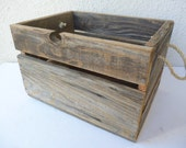 Boîte en bois rustique ~ récupéré Agricol boîte en bois caisse bois cageot - Grange bois boîte - pays boîte