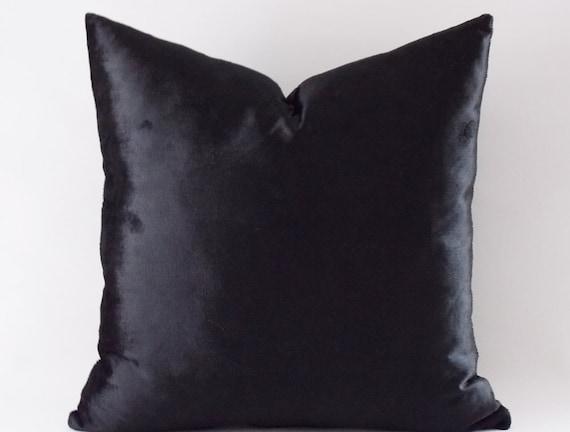 Velvet Solid Black Pillow Covers Decorative Velvet Pillows
