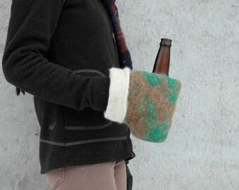 Custom Beer Mitts - the Original Felt double layered cozy