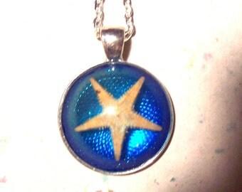 Starfish Ocean  Resin Pendant Necklace