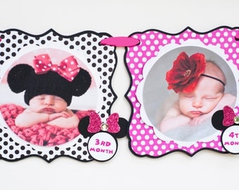 Hot Pink Minnie Mouse Photo Banner,  Minnie Mouse 1st Birthday, Minnie Mouse 1st Birthday Party Photo Banner
