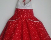 Teen Beach Movie Lela Fully lined White Polka Dotted Red Prom Dress or Costume