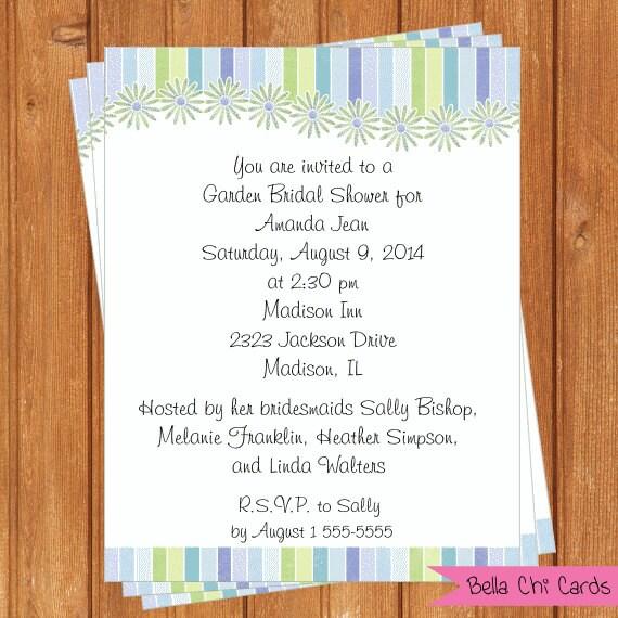 Crazy Daisy Invitation Bridal Shower Printable By