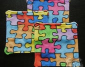 Fleece Rat Hammock: Puzzle Pieces 10-inch Square