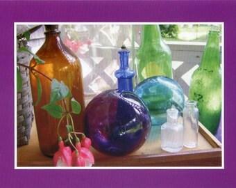 Glass bottle still life