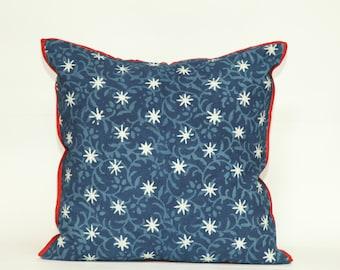 Indigo Sitara Square Decorative pillow 20x20