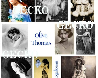 Actress Olive Thomas Digital Collage Sheet