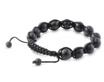 8mm Matte Black Onyx Bead Bracelet