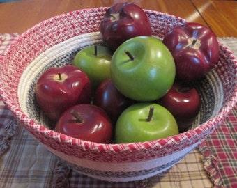 Americana Coiled Fabric Basket