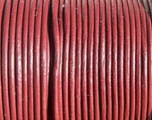 25 yard / meter leather spool, 1mm Burgundy Wine first quality leather cord strand supply wholesale findings