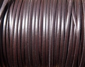 3mm dark brown flat leather cord, 1 yard / meter, High quality Spanish leather cord, leather working cord, string cord, leather Lacing