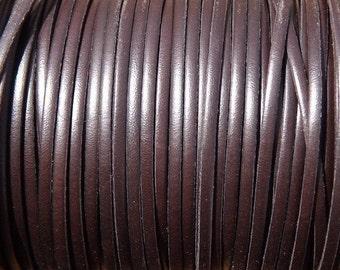 "1 meter / 40""  3mm flat geniuine dark brown  first quality leather hide"