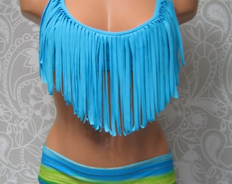 Fringe Triangle Top BLUE