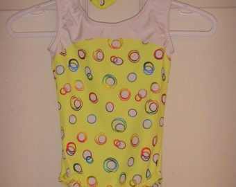 New Gymnastic Leotard  - Yellow - Size 2, 4, 6,