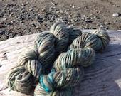 Sea Glass and Rocks handspun yarn