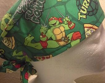 Ninja Turtle Chemo Cap  Child Hat  Scrub Cap