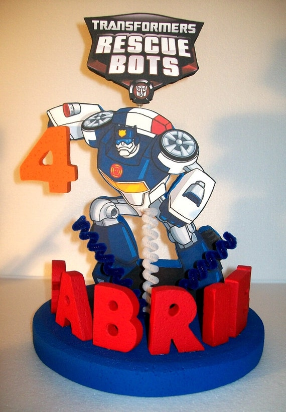 Rescue Bots 3d Custom Personalized Cake Topper By Tishtoppers