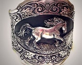 Gypsy Vanner Horse Cuff Bracelet