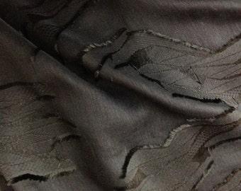Black on Black Sheer Cotton Eyelash Fabric - Fabric By The Yard