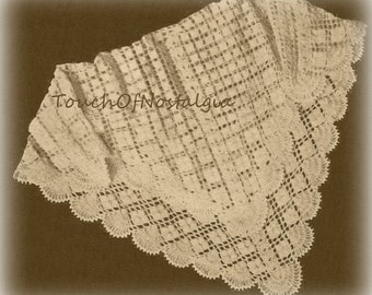 CROCHET Lacy Baby SHAWL / Blanket Pattern - Lacy - Special Occasion - HEIRLOOM - Christening / Beautiful
