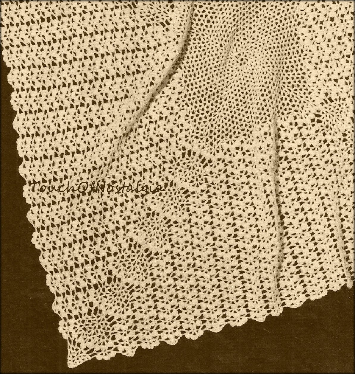 Crochet Lacy Baby Shawl Blanket Vintage Crochet Pattern