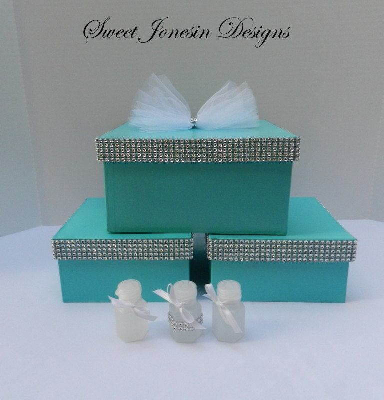 Aqua Wedding Favor Boxes : Wedding boxes blue gift box favor accessory aqua
