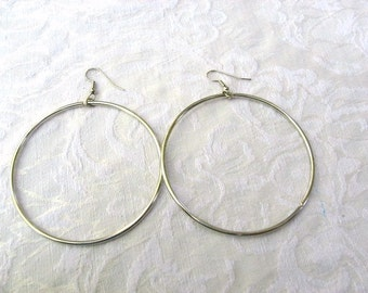 "Metal Color Hoop earrings 2 1/2"" round / Women / Jewelry / Teen jewelry / pierced earrings / women's jewelry"