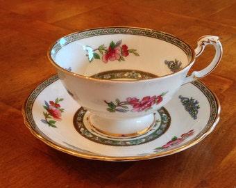 """Paragon """"Tree of Kashmir"""" Teacup and Saucer Set"""