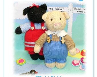pig piggies PDF email knitting pattern