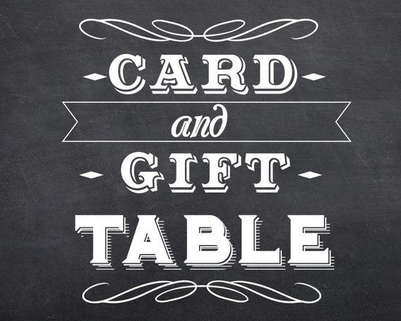 Wedding Gift Card Table : Printable Wedding Gift & Card Table Sign INSTANT DOWNLOAD 8x10 Digital ...