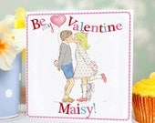 """Valentines day card for or from kids """" The kiss"""""""