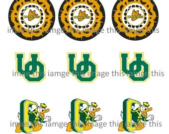 Printable Oregon Ducks One Inch Circle Images