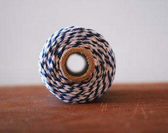 Bakers Twine, 10m, Navy Blue and White