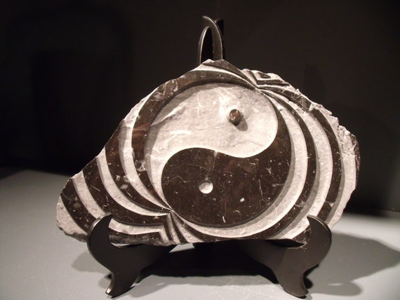 Yin Yang Relief Carved Stone Sculpture