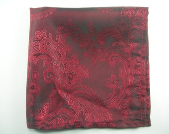 Burgundy wine pocket square