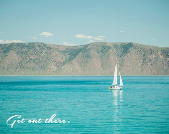Get Out There -Bear Lake Utah postcard