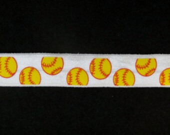DIY 4 Yards By the Yard Fold Over Elastic- Softball Make Your Own Hair Ties FOE Makes 15 Hair Ties